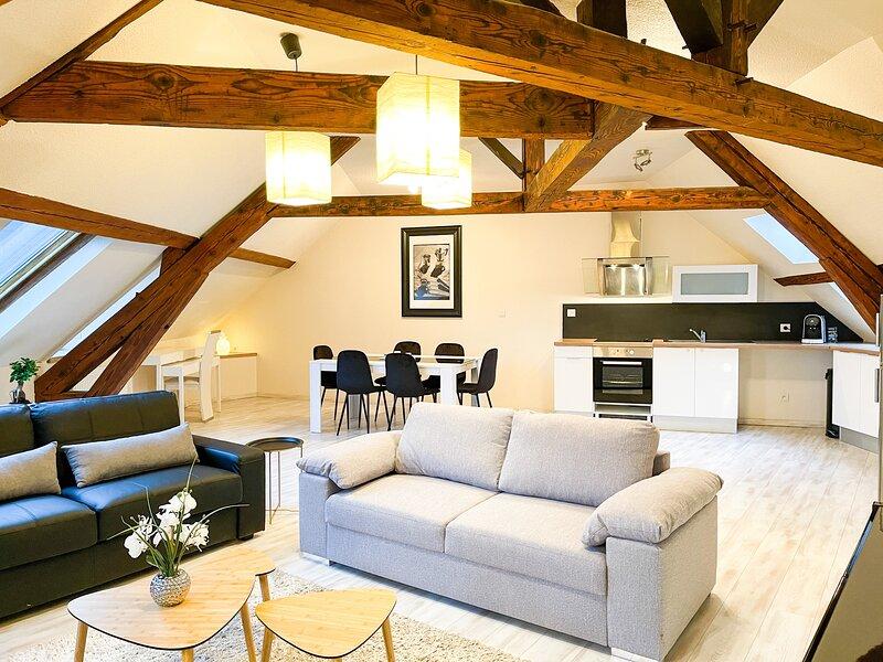 Appartement type F3 bis refait à neuf Centre ville - Idéal Pro - Fibre optique, aluguéis de temporada em Evaux-les-Bains