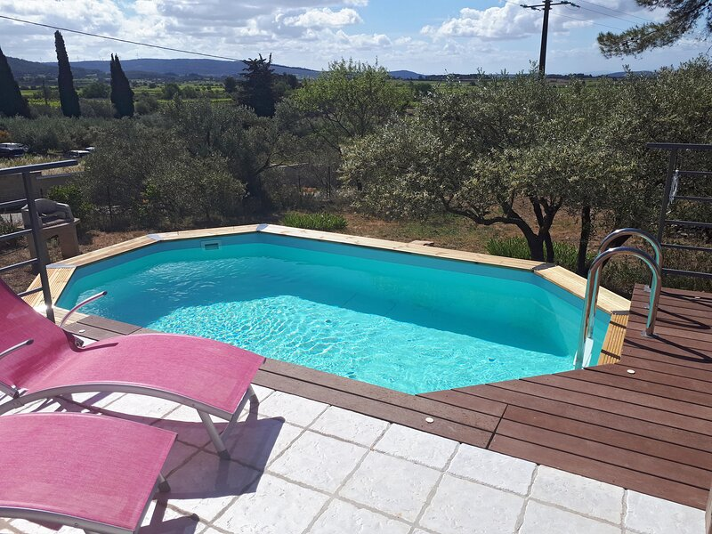 Bienvenue à la Villa Les Roques, au coeur du Minervois, casa vacanza a Velieux