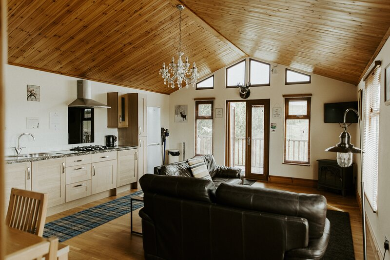 The Sherwood Log Cabin at Fairview Farm Holiday Accommodation in Nottingham, vacation rental in Blidworth
