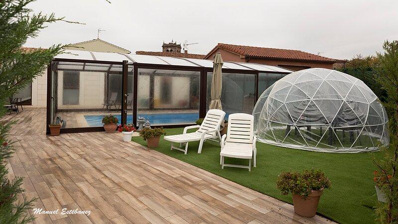 Casa Rural 4 estrellas  con piscina en Parque Natural  ' Sabinares del Arlanza', alquiler de vacaciones en Santo Domingo de Silos