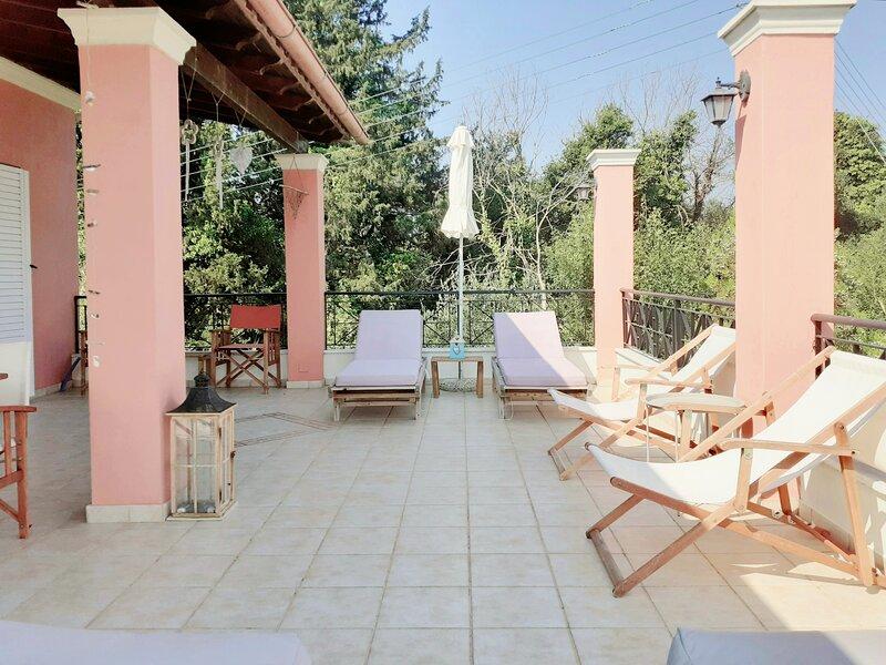 Villa Valia Seaside (Private estate villa in Ipsos bay Corfu), holiday rental in Agios Markos