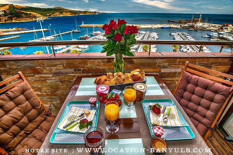 Appartement vacances Banyuls sur Mer standing vue mer proche plage et commerces, aluguéis de temporada em Banyuls-sur-mer