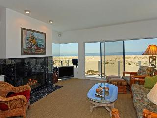 Gorgeous fireplace and living area with flat panel TV