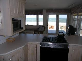Kitchen with a view of the ocean