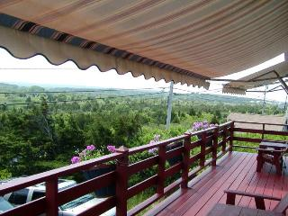 New awnings on the front porch overlooking the marsh