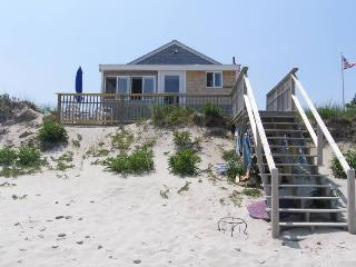 Stairs from the cottage to the sand