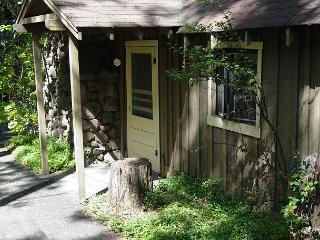 Picturesque Lakefront cabin- deck, kitchen, patio, BBQ, picnic table