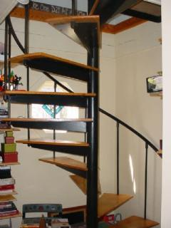 Spiral Stairs down to Bedrooms