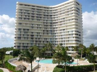 Tranquil Estuary Beach Views await from the large wrap balcony of this pristine Condo, Marco Island
