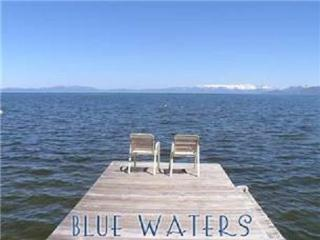 Lake Front, Regan Beach Home with Private Beach, Pier and 3 Buoys (RB01), South Lake Tahoe