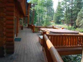 Amazing Deck That Follows The River with a Private Hot Tub
