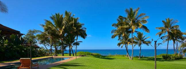 Wailea Sunset Estate - Stunning Oceanfront Grass Lawn and Beachfront Firepit Right At Your Doorstep