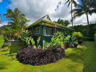 The ultimate Beachfront House.  Located in Hanalei, Pine Trees surf spot