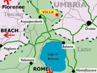Villa Rental Walking Distance to Town of Torre Alfina - Villa del Castello