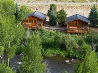 Premium 2 BR Cabin on Taylor River With Private Hot Tub at Three Rivers Resort in Almont (#18)