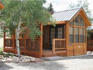 "Cozy ""Modular"" Style 1 BR with Sleeping Loft Cabin at Three Rivers Resort in Almont (#43)"