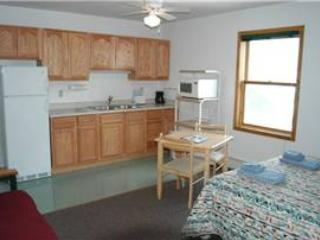 Hotel Style Room with Kitchenette, Futon and Full Bath at Three Rivers Resort in Almont (Lodge Room D)