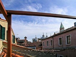 Terrace view of San Marco's iconic domes.