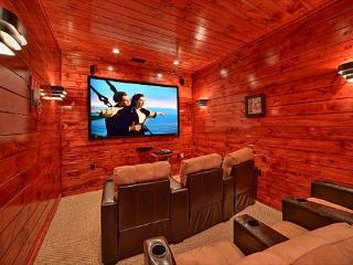 Luxury 3 Bedroom Gatlinburg Cabin with Home Theater Room and Sauna Room