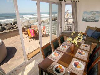 Lower level dining and patio, Beachfront Only Vacation Rentals