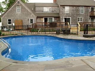 A heated private pool at this expansive and beautiful Eastham home.