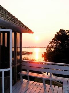 Sunrise over Assateague VA  from Spinnaker Waterfront's Deck on Chincoteague Island