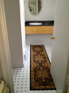 Twin bathroom ensuite at Assateague Spinnaker Waterfront Vacation Home Open all year!