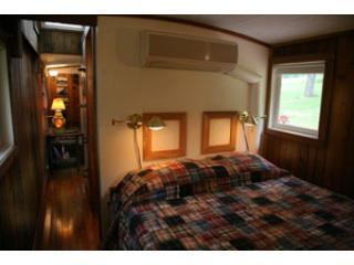 Bedroom of caboose