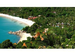 Ariel View of the beautiful unspoilt Thong Nai Pan Beach