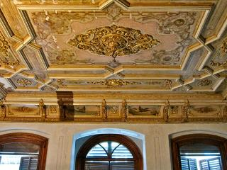 fabulous oil-painted ceiling