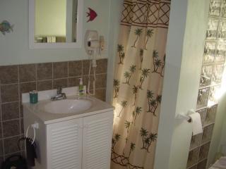 Bagno con doccia / lavatrice asciugatrice & in armadio