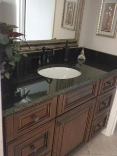 Master Bath with Countertop Cabinets