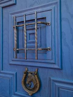 Detail of Hand-Crafted Front Door