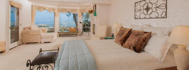 King master suite has deck and windows to the world