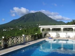 Nevis Peak, a view from our private pool