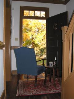 Feel free to move a comfortable chair into the front hall and enjoy the river view from there.