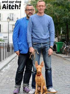 This is us! Alain, Jason and Aitch the dog. Look forward to meeting you :-)
