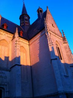 The church in Montrésor, 2km away