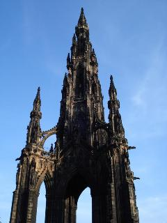 Scott monument from Princes street