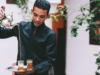 Marrakech Riad tea ceremony