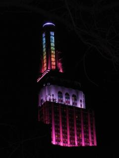Empire State Building Color Display. Photo taken from East 30th Street between Park & Lexington Aves