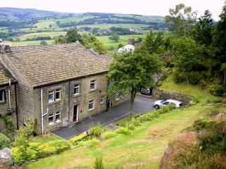 Cherry Tree Cottage near Ripponden. Superb views. Pets welcome. Awarded 4 stars.