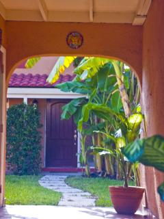 Entry hall leading to our courtyard