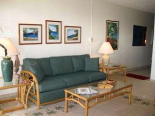 Living Room with Hawaiian decor and local artwork