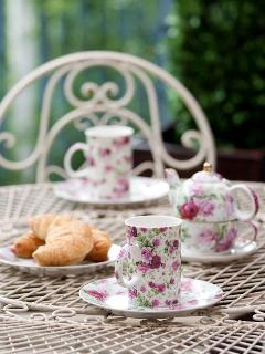 Tea for two on the sun-faced north verandah
