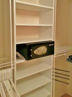 Electronic safe for valuables, passports & fits most computers