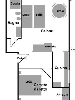 Map of Casa Giulia apartment