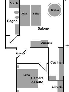 Map of Casa Giulia apartment