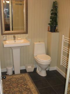 En Suite Bathroom with shower and bath