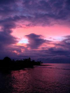 Sunrise at your Kauai vacation rental, 305 Kuhio Shores.